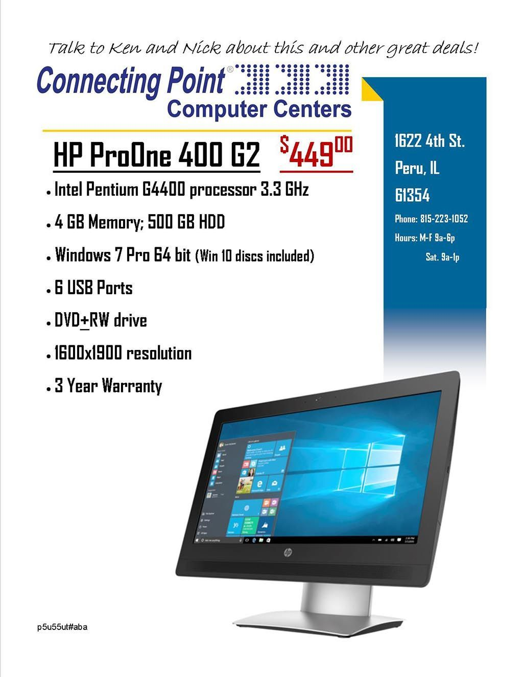 Pick of the Week - HP ProOne 400 G2 $449.00