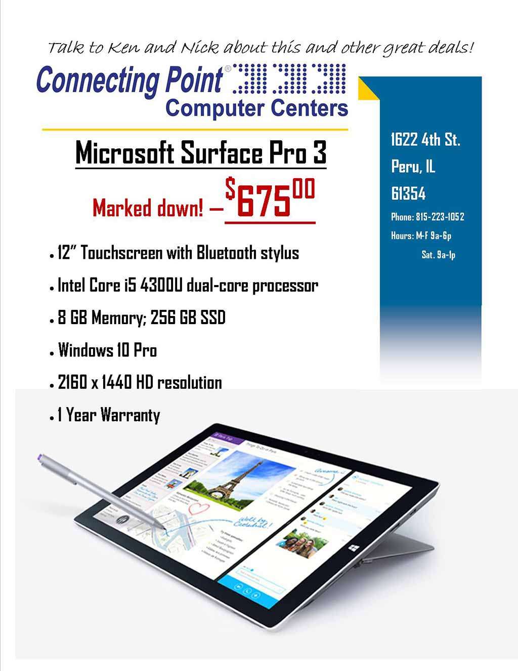 POTW - 5-30-17 Microsoft Surface Pro3 Marked Down $675