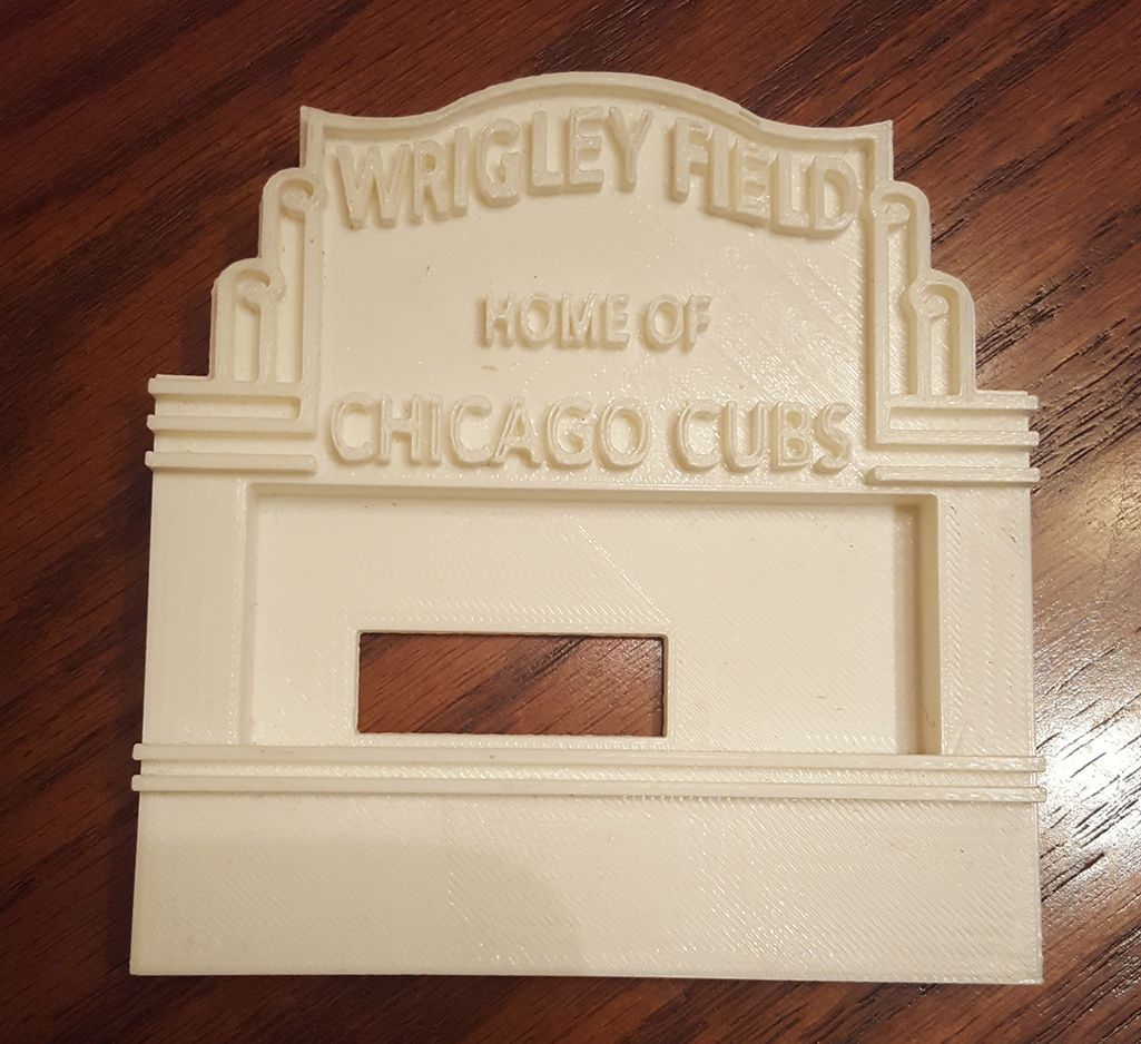 3d wrigley field sign 10 31 16