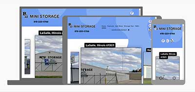B&B Mini Storage website redesign with responsive layout
