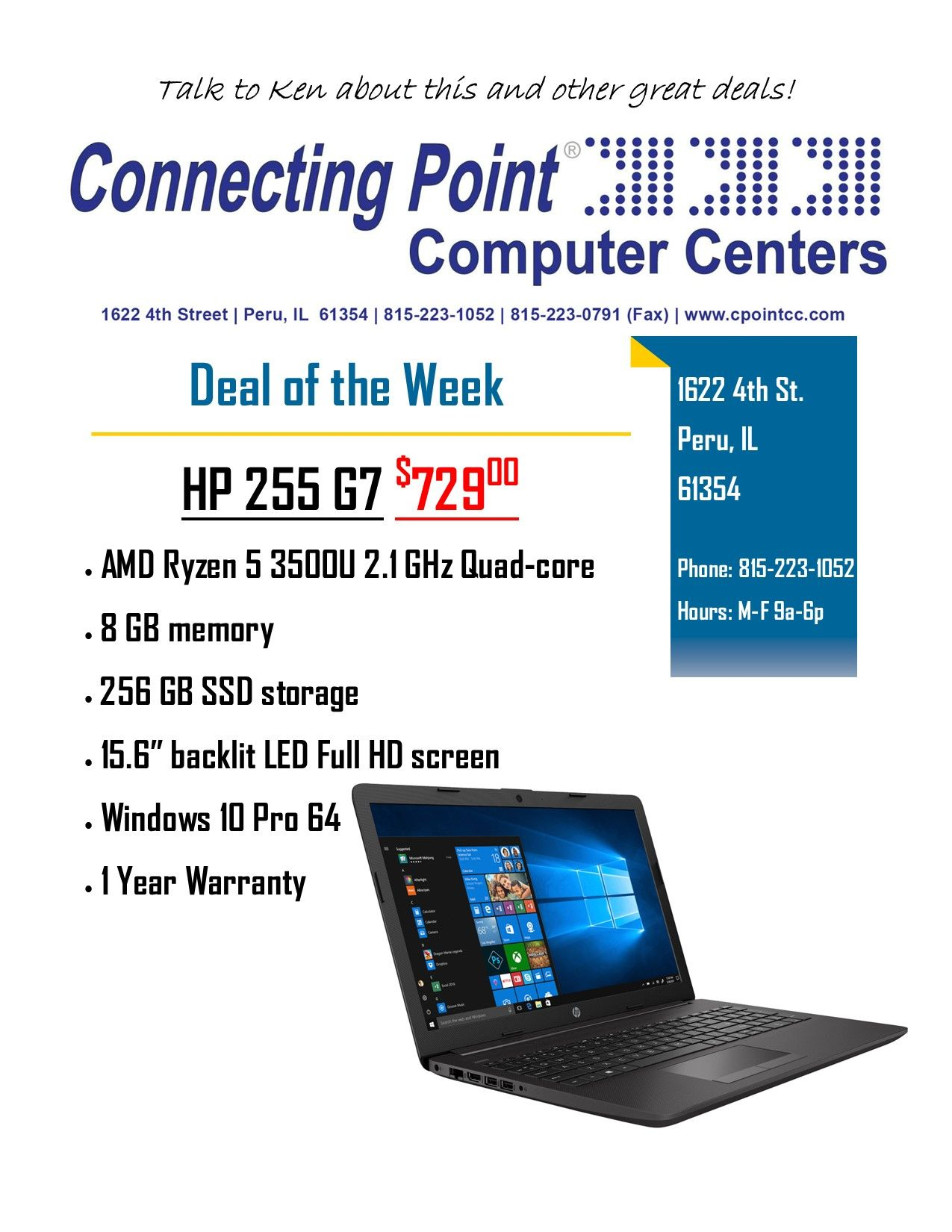 POTW 4-5-2021 HP 255 G7 Laptop
