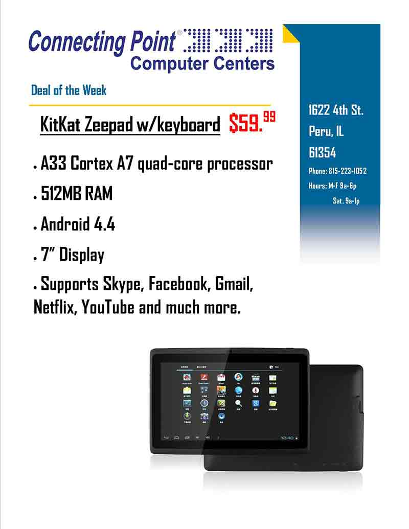 Pick of the Week - KitKat Zeepad with Keyboard $59.99