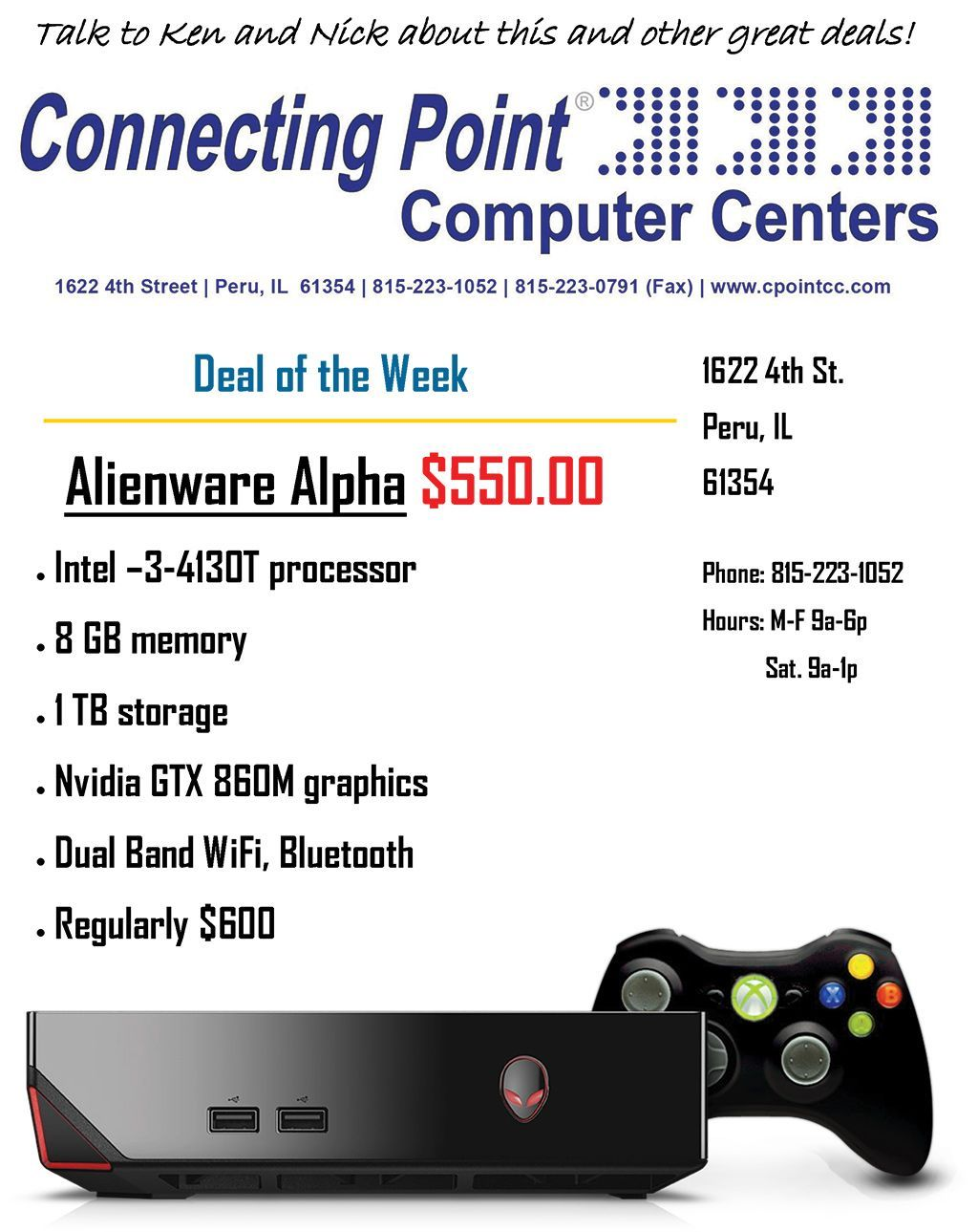 Pick of the Week 9-6-16 Alien Alpha Mini Gaming PC
