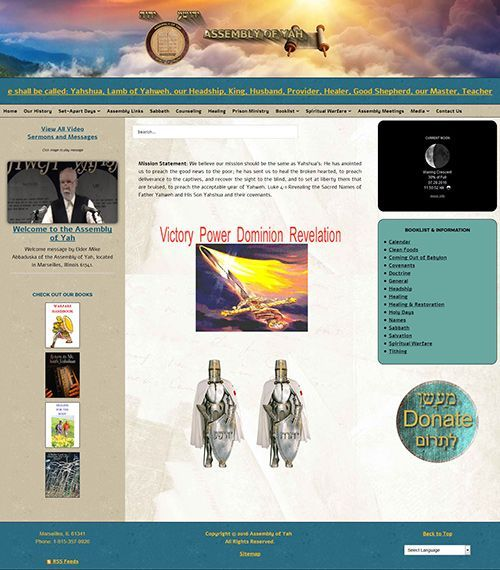 Assembly of Yah Responsive Website Re-Design