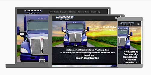 Breckenridge Trucking website responsive layout sample