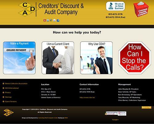 Website Upgrade and Redesign for Creditor's Discount & Audit Company