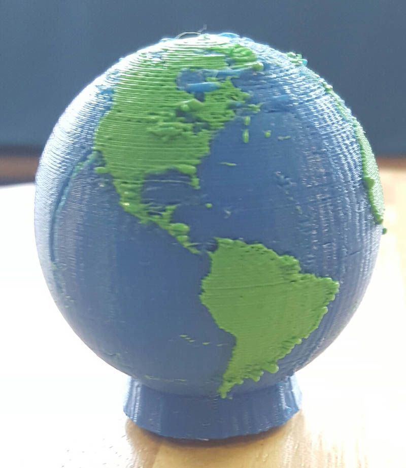 Earth Display for Makerbot Monday 5-2-16
