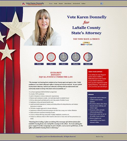 Responsive Website Project to Elect Karen Donnelly for LaSalle County State's Attorney