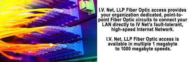 Business fiber optic internet access provided by IVNet, LLP.