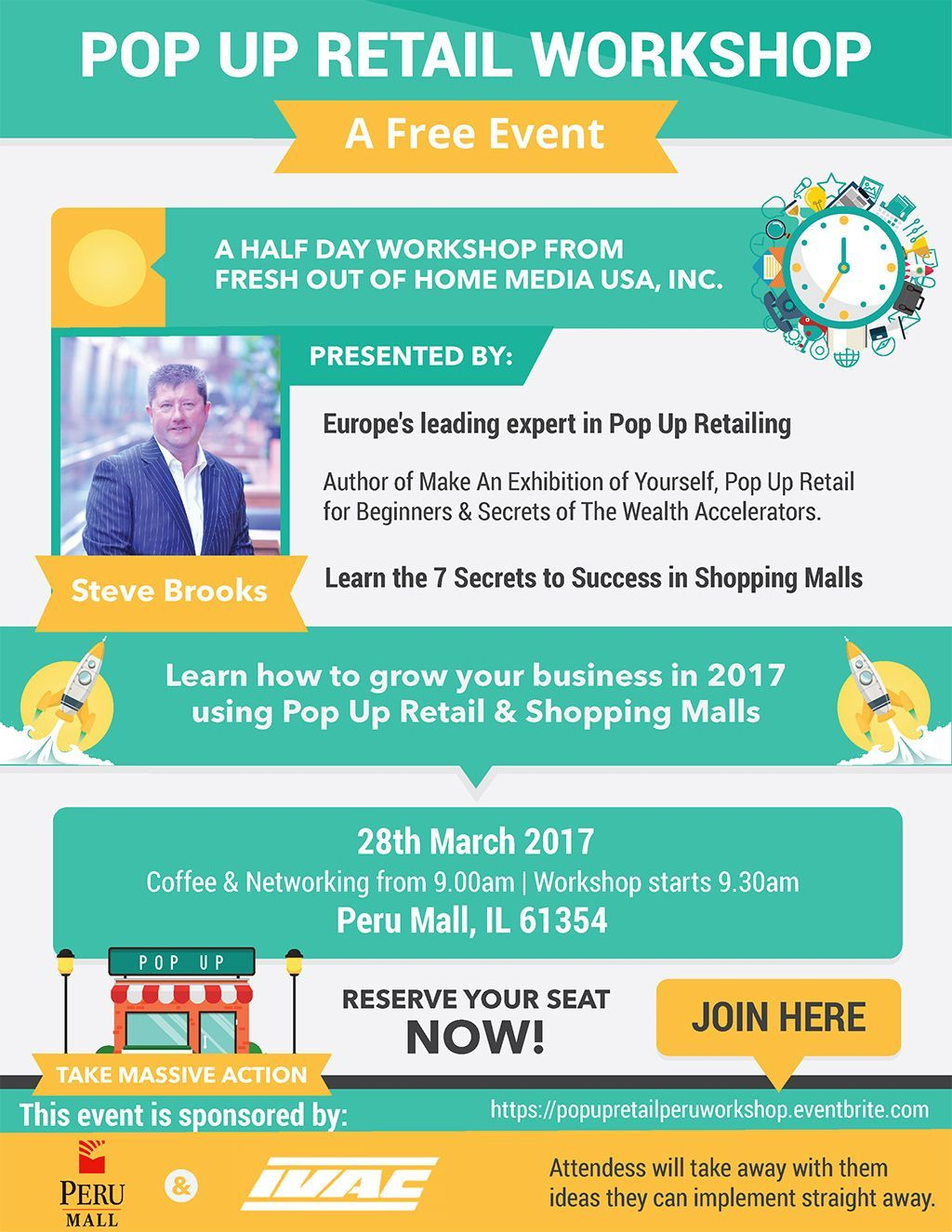 free pop up retail workshop event March 28, 2017