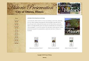 Historic Preservation website design project