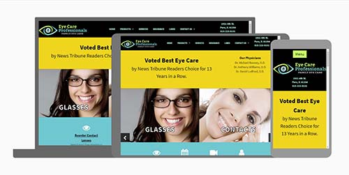 Responsive website design by Connecting Point Computer Center for Eye Care Professionals