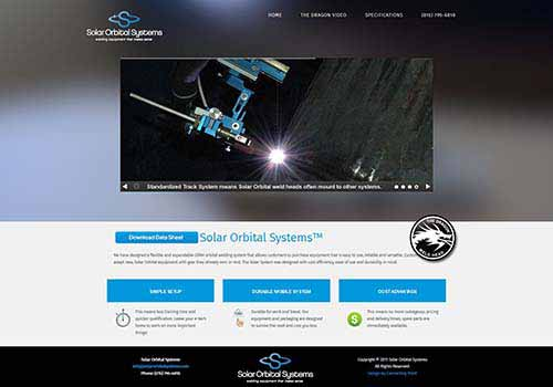 Solar Orbital Systems website redesign 2017