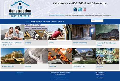 Responsive Website Design for IVConstruction.net by Connecting Point Computer Center