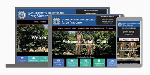 LaSalle County Circuit Clerk testimonial for web design