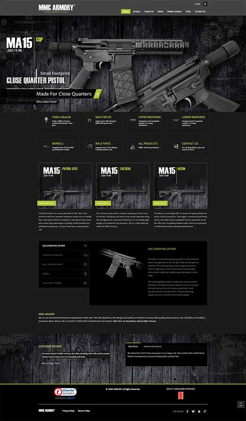 Website Redesign Project for MMC Armory Illinois