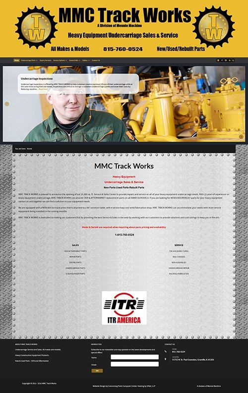 Responsive website design for MMC Track Works by Connecting Point Computer Center
