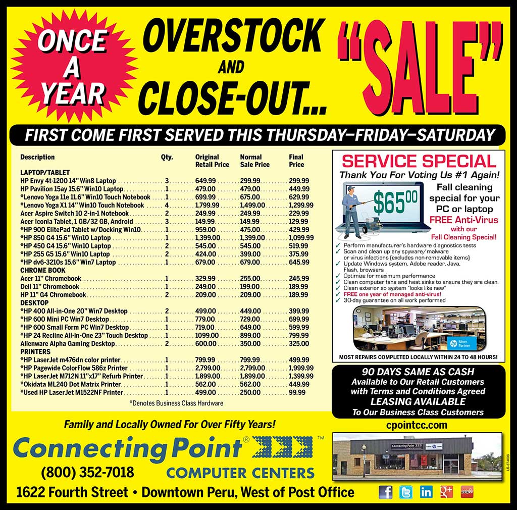 Join us for our Once a Year Overstock and Closeout Sale