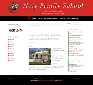 website redesign project for oglesby-holy-family-school