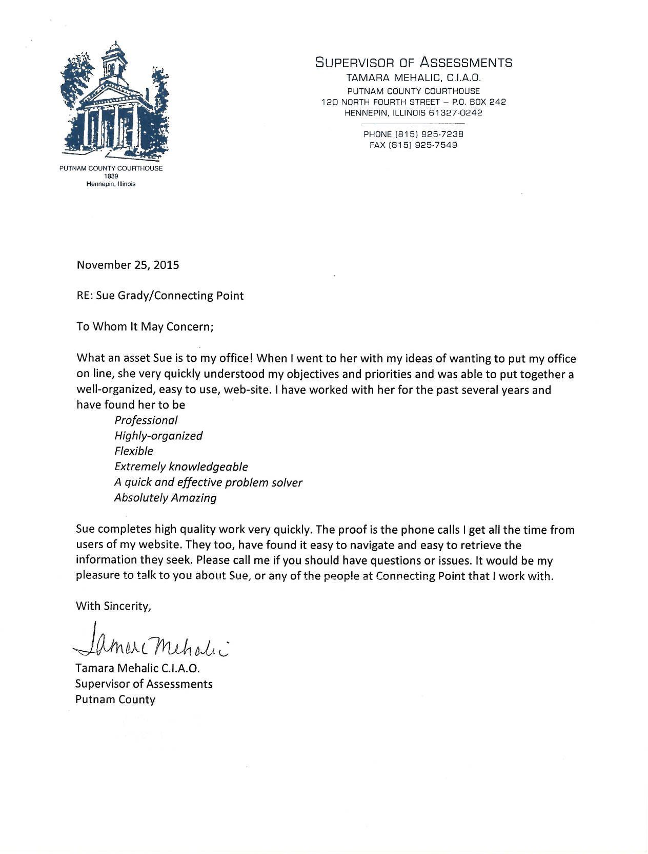putnam county illinois soa website services testimonial