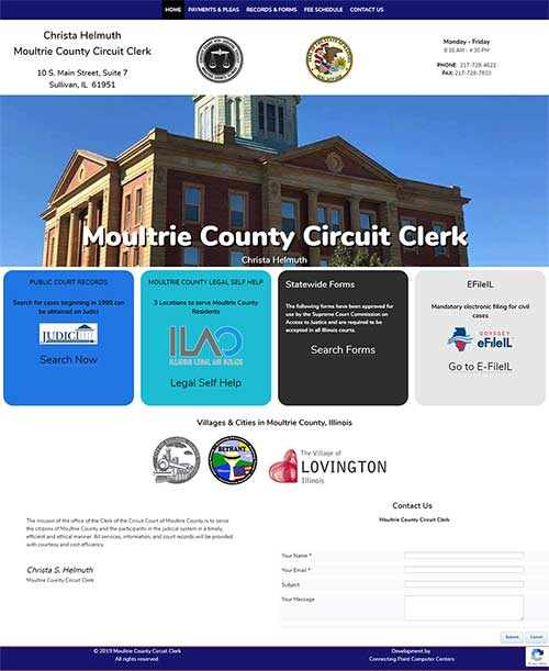 Moultrie County Circuit Clerk Website Design Project